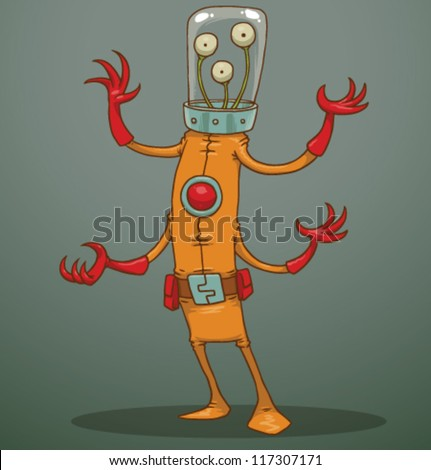 funny alien 05  vector