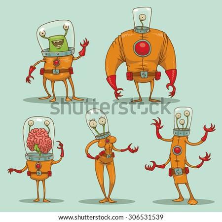 funny aliens set