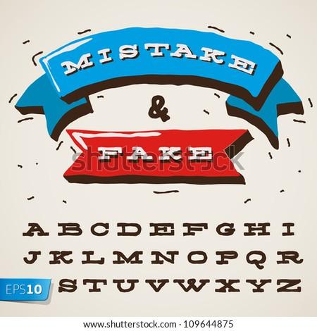 funny alphabet letters in retro ...