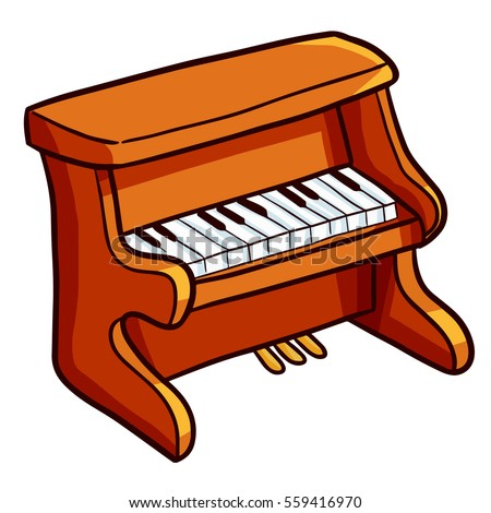 funny and cute brown old piano