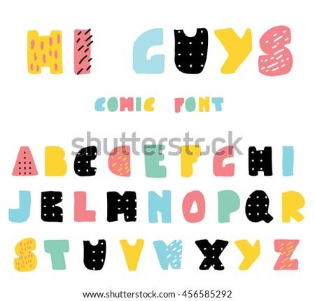 Cute Colorful Font - Download Free Vectors, Clipart Graphics