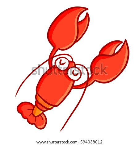 funny and cute lobster smiling