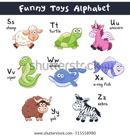 funny animals alphabet cute