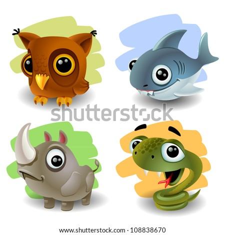 funny animals-set 2