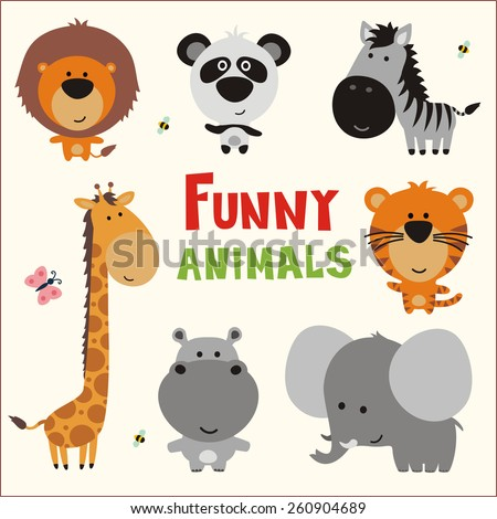 funny animals   vector