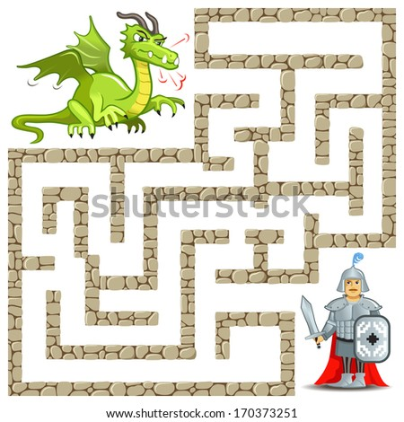 funny artwork   vector maze