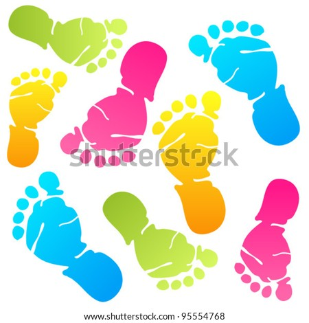 funny baby foot prints