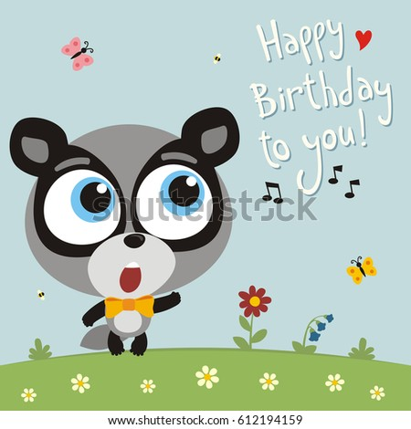Funny badger sings song happy birthday to you greeting card ez funny badger sings song happy birthday to you greeting card m4hsunfo