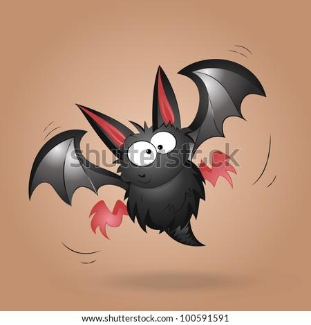 funny bat vector