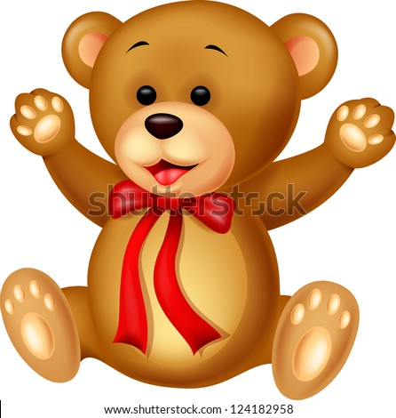 Funny Bear cartoon - stock vector