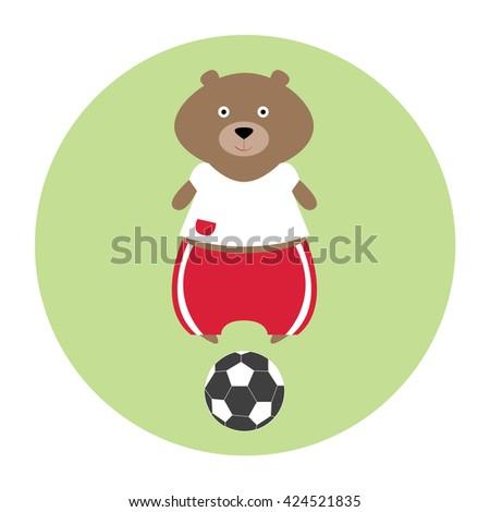 funny bear football player