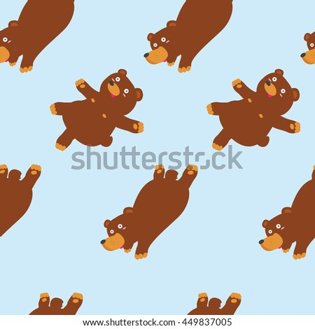 funny bear pattern including