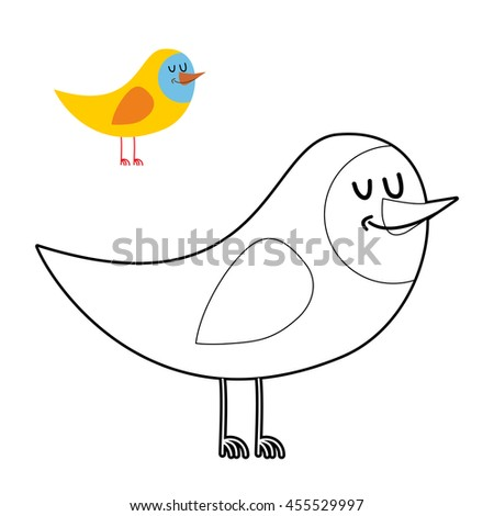 funny bird coloring book