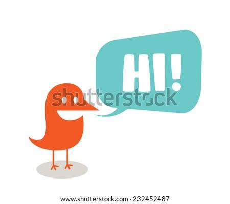 funny bird symbolizing
