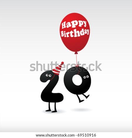 funny birthday card. Funny Birthday Icons. stock