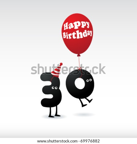 funny birthday card. stock vector : Funny Birthday