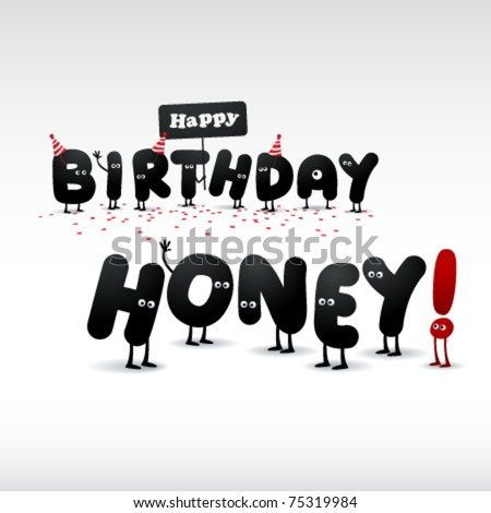 Funny Birthday Card Stock Vector 75319984 : Shutterstoc