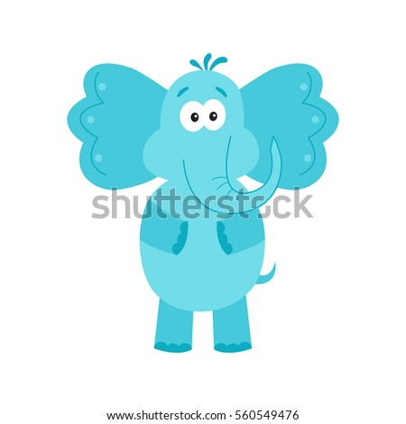 funny blue elephant cute