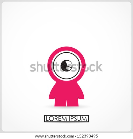 Funny boy isolated on white. vector