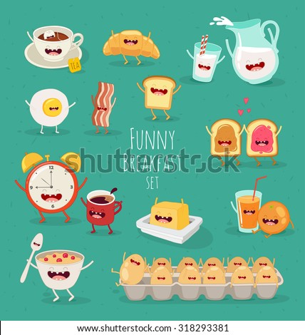 funny breakfast set comic