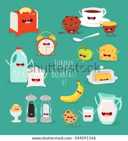 funny breakfast set comic