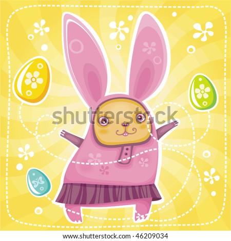 funny bunny. stock vector : Funny bunny