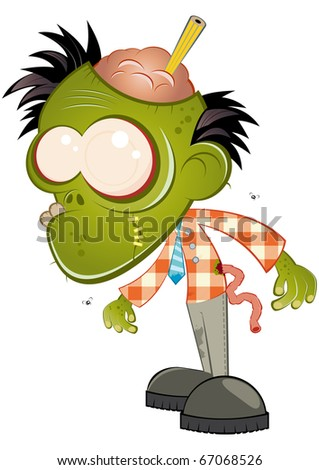 funny business cartoon zombie
