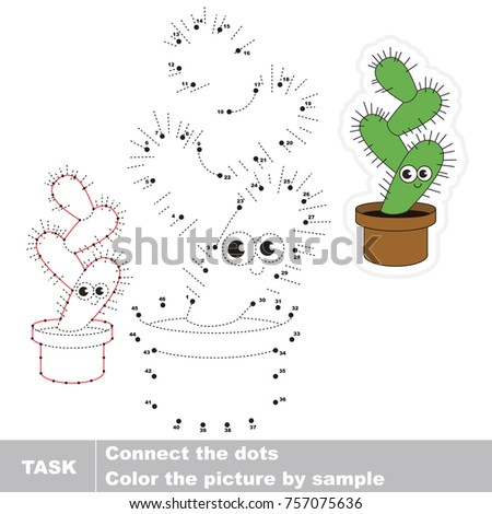 funny cactus dot to dot