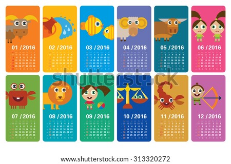 funny calendar 2016 with