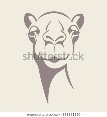 funny camel face vector