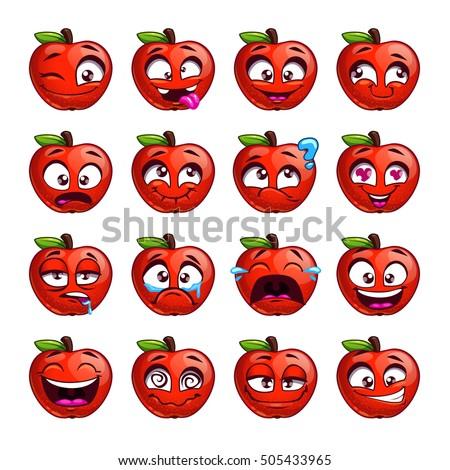 funny cartoon apple character