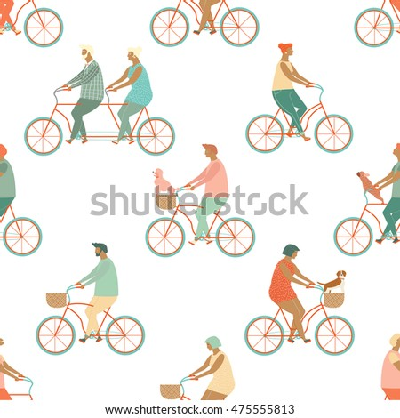 funny cartoon bicycle riders