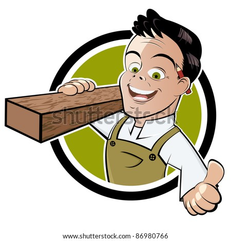 funny cartoon carpenter