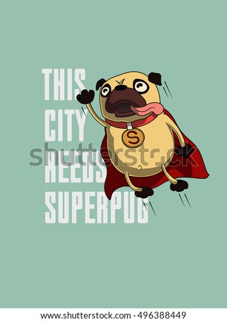 funny cartoon character pug