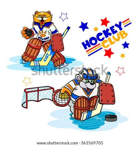 funny cartoon characters hockey