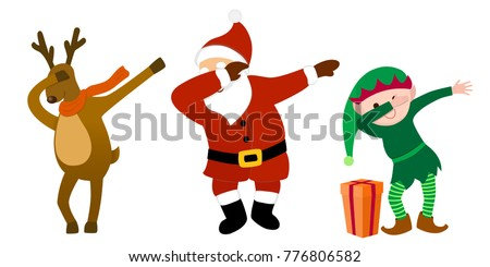 funny cartoon characters  santa