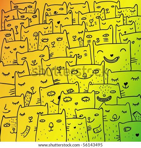 desktop backgrounds funny cartoons. stock vector : Funny cartoon
