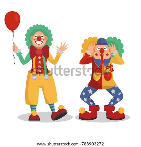 funny cartoon circus clowns