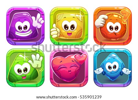 funny cartoon colorful glossy