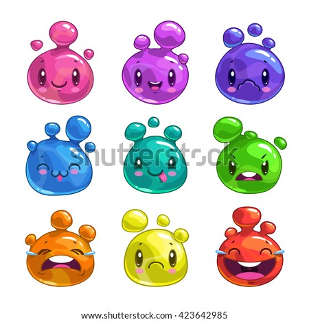 funny cartoon colorful little