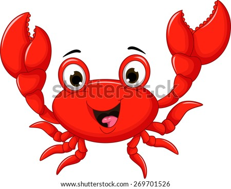 funny cartoon crab for you