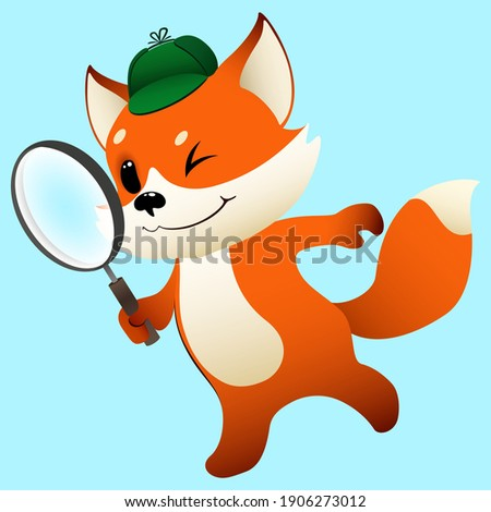 funny cartoon detective little