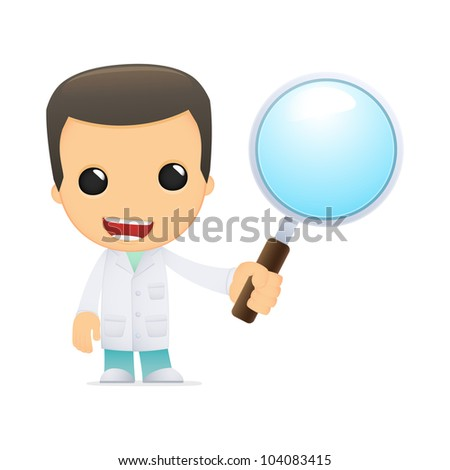 funny cartoon doctor in various poses for use in advertising, presentations, brochures, blogs, documents and forms, etc.