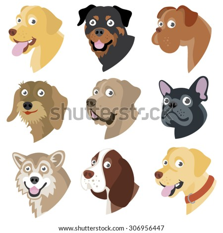 funny cartoon dog faces of