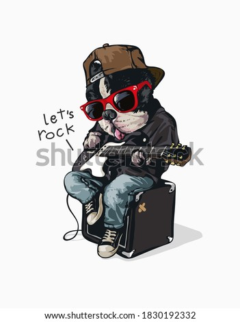 funny cartoon dog in sunglasses