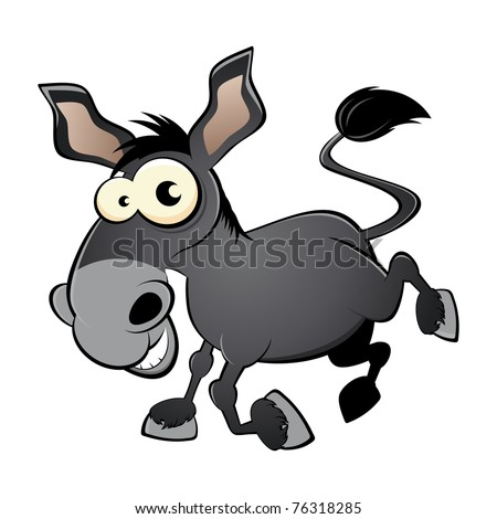 funny cartoon donkey