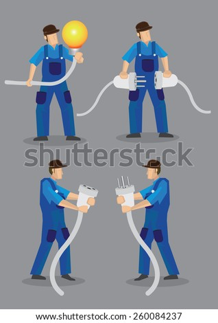 funny cartoon electricians