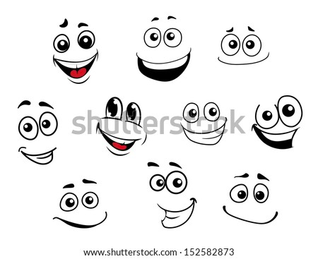 funny cartoon emotional faces