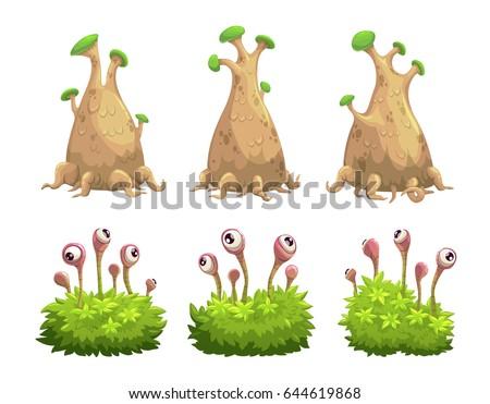 funny cartoon fantasy trees and