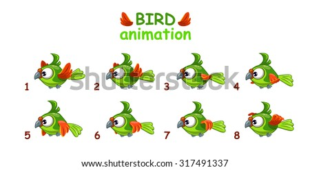 funny cartoon flying green